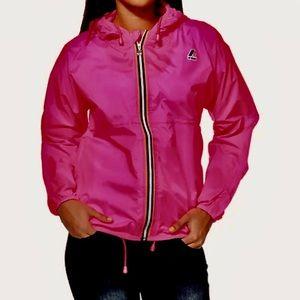 K-Way Bright Pink Rain Jacket